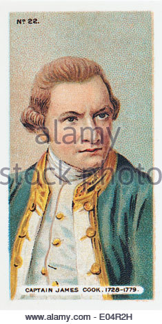 Wills cigarette card Captain James Cook 1728 - 1779. EDITORIAL ONLY - Stock Photo