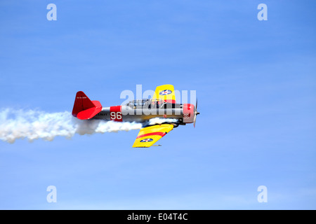 North American Aviation T-6 Texan, a single-engined advanced trainer aircraft used to train pilots of the United - Stock Photo
