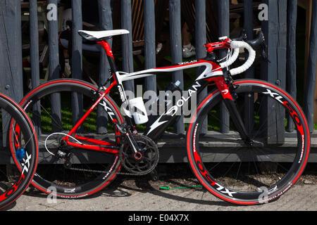 Scorton, Lancashire 2nd May, 2014.  Dolan racing bike frame cycle at the Bank Holiday Bikes & Barrows 4th annual - Stock Photo