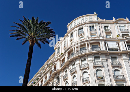 Europe, France, Alpes-Maritimes, Cannes. Miramar palace hotel. - Stock Photo