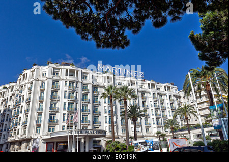 Europe, France, Alpes-Maritimes, Cannes. Martinez palace hotel. - Stock Photo