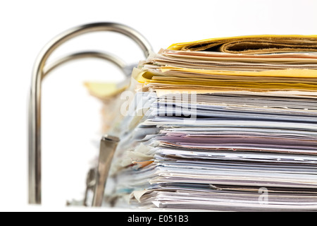 A file with documents and documents. Safekeeping of contracts - Stock Photo