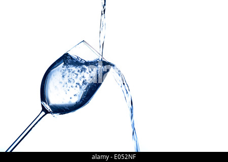Pure and clean water is filled in a glass. Drinking waters, water glass, glass, Dehydratation, dehydrogenate, dehydration - Stock Photo