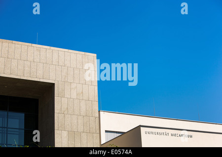 The university of Mozarteum in the city of Salzburg, Austria, Die Universitaet Mozarteum in der Stadt Salzburg, - Stock Photo