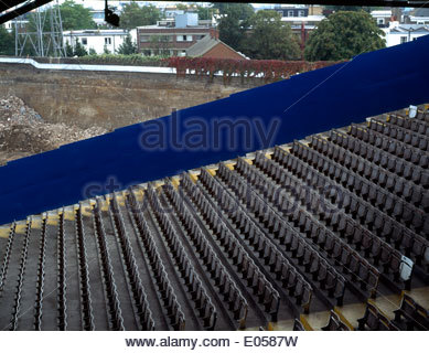 Stamford Bridge, home of Chelsea Football Club of England, undergoes a makeover one summer - Stock Photo