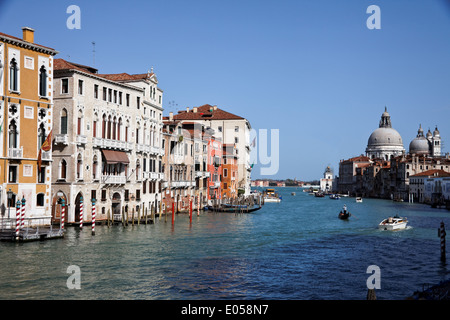 The famous Canale grandee in Venice, Italy, Europe, Der beruehmte Canale Grande in Venedig, Italien, Europa - Stock Photo