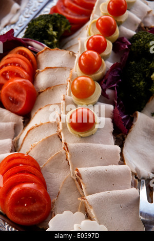 Cold refreshment bar, Kaltes Buffet - Stock Photo