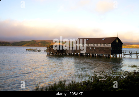 Boathouse on Tomales Bay. - Stock Photo