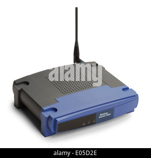 Wireless Router Isolated on White Background. - Stock Photo