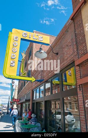Livingston, Montana, Downtown, restaurant, cafe - Stock Photo