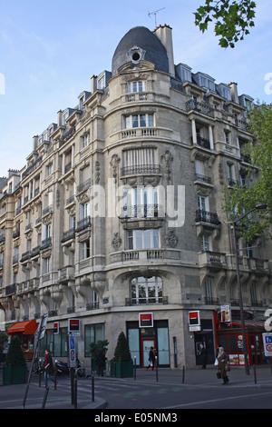 Paris, inner suburb, apartment block above shops