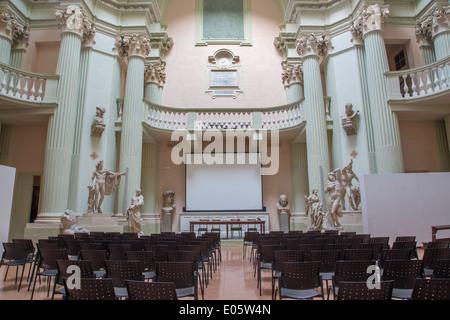 BOLOGNA, ITALY - MARCH 17, 2014: Aula of 'Accademia di Belle Arti' in Bologna - Stock Photo