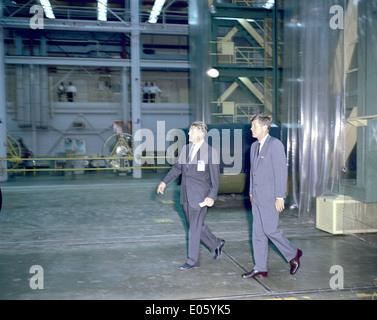 President Kennedy Tours Marshall with von Braun - Stock Photo