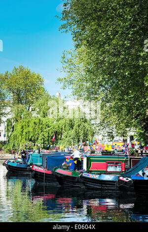 Little Venice, London, UK. 3rd May 2014. The annual Canalway Cavalcade celebration organised by the Inland Waterways - Stock Photo