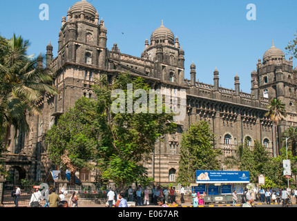 Colonial-era public buildings in the Fort District of Mumbai (formerly Bombay), India - Stock Photo