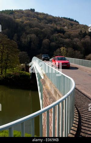 Bigsweir Bridge and River Wye near Llandogo, Monmouthshire, Wales, UK - Stock Photo