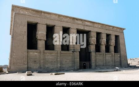 Egypt,Dendera,Ptolemaic temple of the goddess Hathor.External view. - Stock Photo