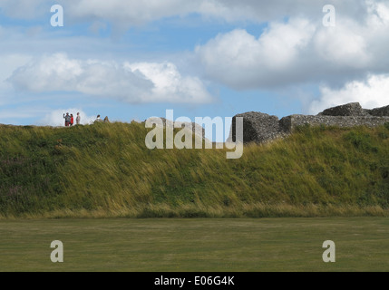 Old Sarum Wiltshire England UK a prehistoric site used by Romans, Saxons, and Normans. - Stock Photo