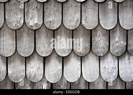 Wood Shingled Roof Shingles Or Shake Shingles In Closeup