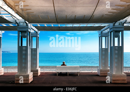 Europe, France, Alpes-Maritimes, Nice. Promenade des Anglais - Stock Photo