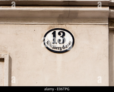 Old fashioned house numbers 83