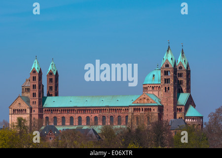 The Cathedral  of the City of Speyer in Rheinland Pfalz Germany - Stock Photo