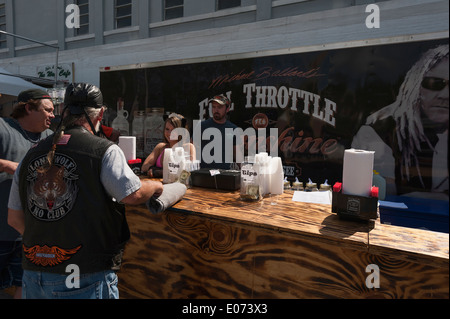 Outdoor Full Throttle Saloon at the Leesburg Motorcycle Bikefest 2014 Event - Stock Photo