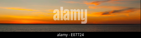 Sunrise over Beagle Bay Panorama, the Kimberley, Western Australia, Australia - Stock Photo