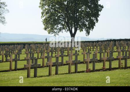 Notre Dame De Lorette, French War Cemetery in Ablain-Saint-Nazaire/France (Nord-Pas-De-Calais), photo taken on 22th, - Stock Photo