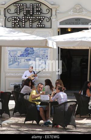 The Ritz Cafe Avenida Arriaga Funchal Madeira - Stock Photo
