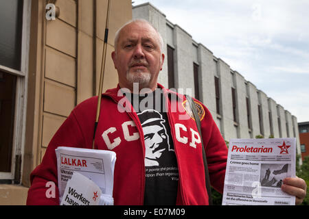 Salford, Manchester, UK  5th May, 2014. Mr Zane Carpenter, General Secretary Communist party of Great Britain,  - Stock Photo