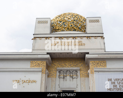 The Secession Building in Vienna Austria famous as much for the building as for the art it contains exterior view - Stock Photo