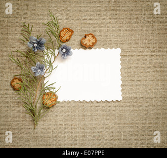 Canvas background with frame for text or photo - Stock Photo