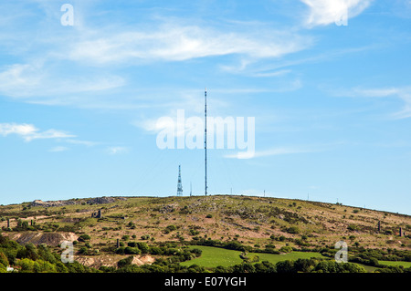 Caradon hill near Minions on Bodmin moor in Cornwall, UK - Stock Photo