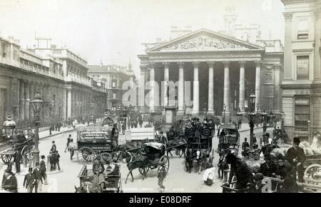 Royal Exchange, London, England, UK. circa 1890's - Stock Photo