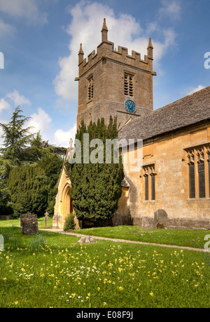 St Peter church, Stanway, Gloucestershire, England. - Stock Photo