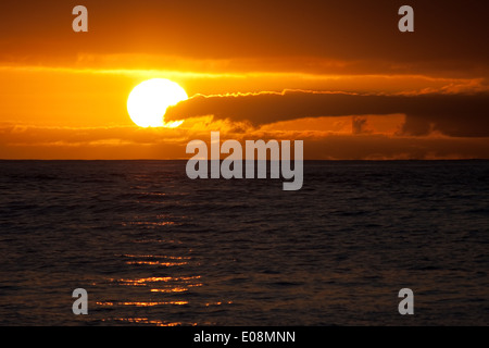 Sonnenübergang über dem Meer, Teneriffa, Spanien - Stock Photo