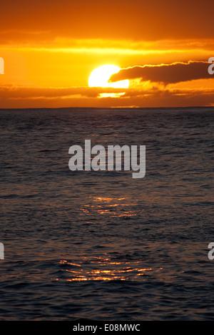 Sonnenuntergang über dem Meer, Teneriffa, Spanien - Stock Photo