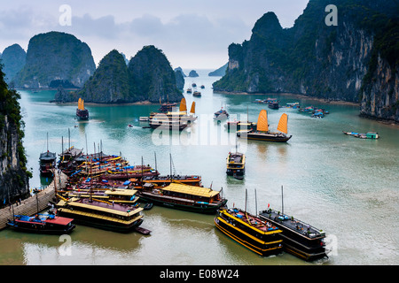 A View Of Halong Bay, Gulf of Tonkin, Vietnam - Stock Photo