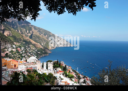VIEW OF POSITANO,AMALFI COAST,ITALY - Stock Photo