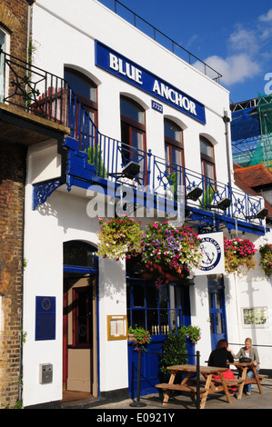 Blue Anchor Pub, Hammersmith, London, England - Stock Photo