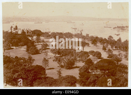 Sydney Harbour [including Botanical Gardens, Government House and Fort Denison], c. 1900-1910, Star Photographic - Stock Photo
