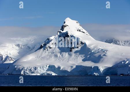 peak on ronge island Antarctica - Stock Photo
