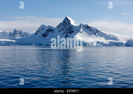 peak on ronge island Antarctica - Stock Photo