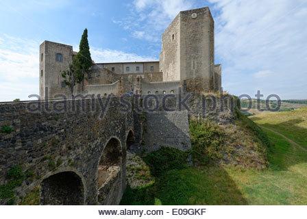 Italy, Basilicata, Melfi, Castle with Archeologic National Museum - Stock Photo