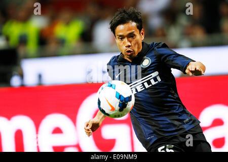 Milan, Italy, © D. 4th May, 2014. Yuto Nagatomo (Inter) Football/Soccer : Italian 'Serie A' match between AC Milan - Stock Photo