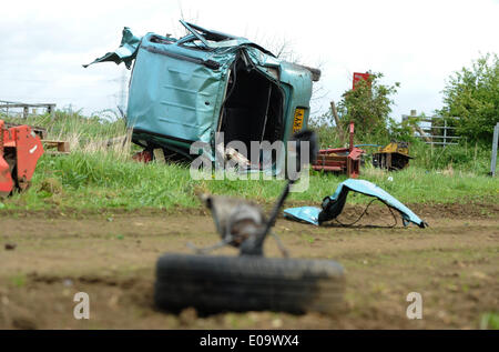 A 77 YEAR OLD MAN IS KILLED AS DRIVER KILLED AT DRIVER KILLED AT LEVEL CROSSIN SCAMPSTON MALTON NORTH YORKSHIRE - Stock Photo