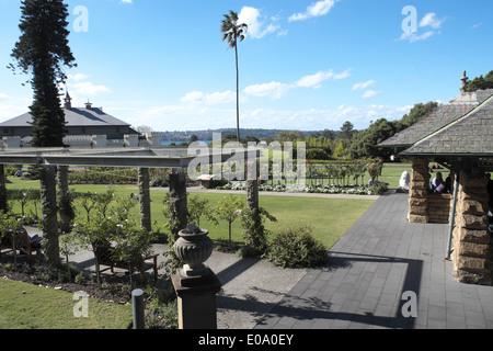 rose garden in Royal Botanic Gardens in Sydney , Australia - Stock Photo