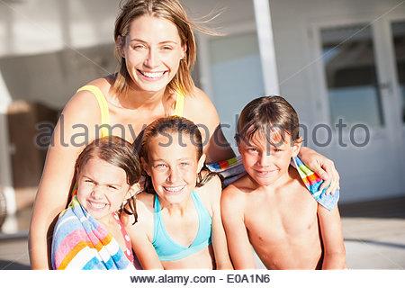 Family in swimwear - Stock Photo