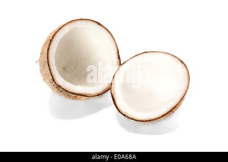 coconut isolate on white background - Stock Photo